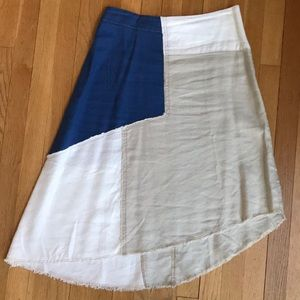 Anthropologie Linen Blend Skirt
